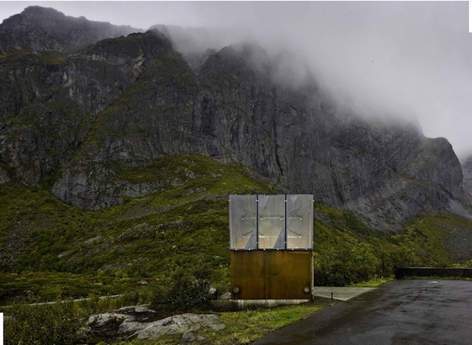 8782 83Panorama1 Roadside Reststop Akkarvikodden, Lofoten, Norway by Manthey Kula Architects on thisispaper.com