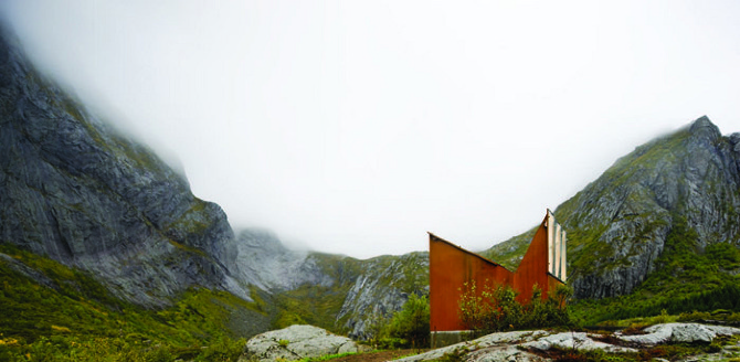 MANTHEY%20KULA%20c Roadside Reststop Akkarvikodden, Lofoten, Norway by Manthey Kula Architects on thisispaper.com