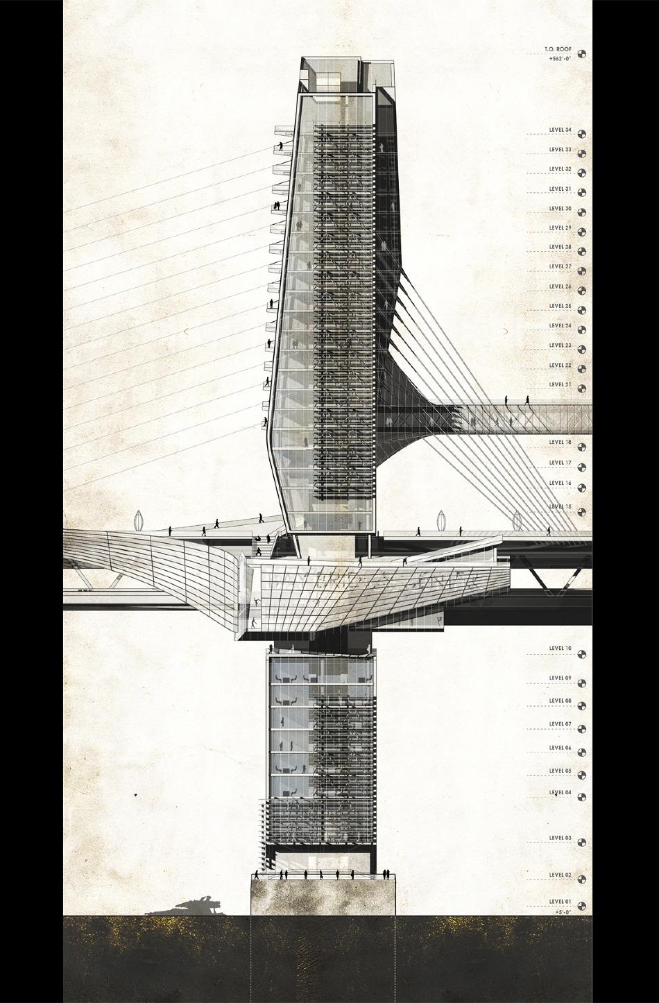 Bay bridge 2050 aaron berman architecture - Bay architecture ...