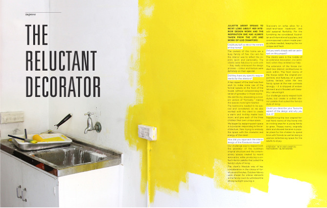 Magazine layout blair howard for Interior design layout inspiration
