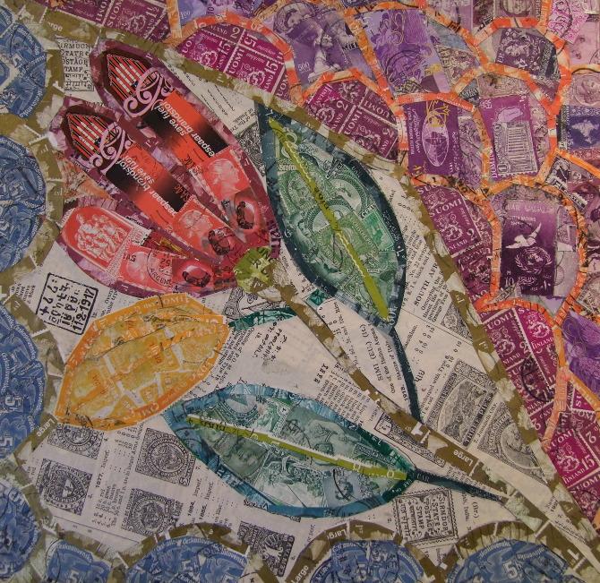 Inspired by Gaudi - Rachel Markwick - Fine art & collage