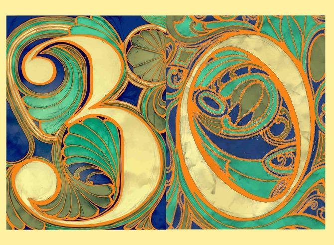 Art Nouveau Birthday Cards Laura Beckman